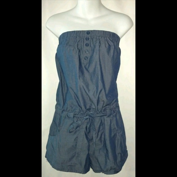 Mossimo Supply Co. Pants - Mossimo Denim Romper Blue Jean W/ Pockets Retro S